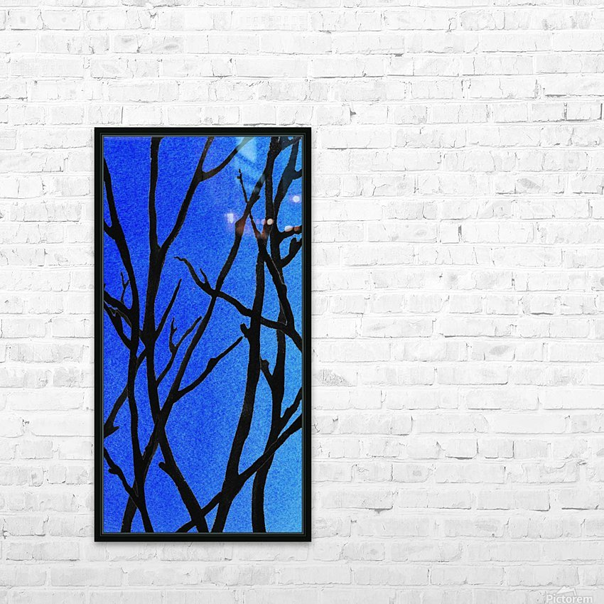 Ultramarine Forest Winter Blues I HD Sublimation Metal print with Decorating Float Frame (BOX)