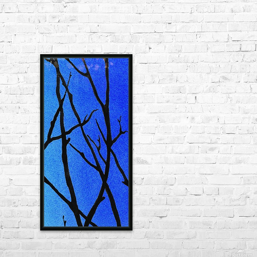 Ultramarine Forest Winter Blues III HD Sublimation Metal print with Decorating Float Frame (BOX)