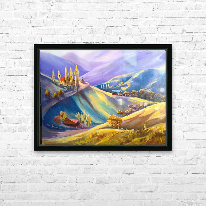 Moeciu landscape  HD Sublimation Metal print with Decorating Float Frame (BOX)