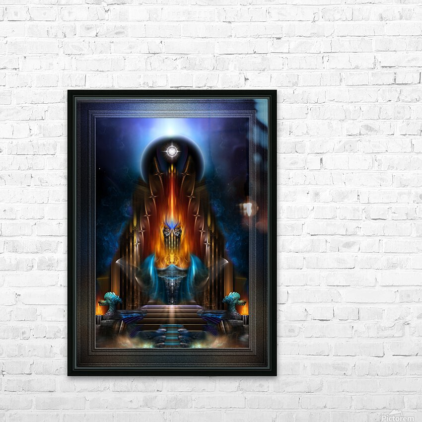 The Golden Vision Of Arsencia Fractal Art Composition HD Sublimation Metal print with Decorating Float Frame (BOX)