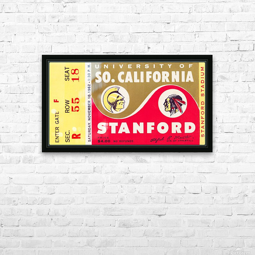 1962 Stanford Indians vs. USC Trojans HD Sublimation Metal print with Decorating Float Frame (BOX)