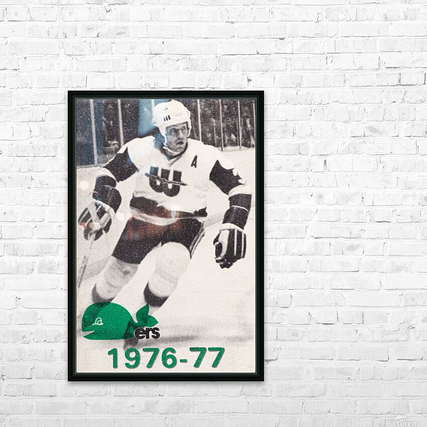1976 New England Whalers Art HD Sublimation Metal print with Decorating Float Frame (BOX)