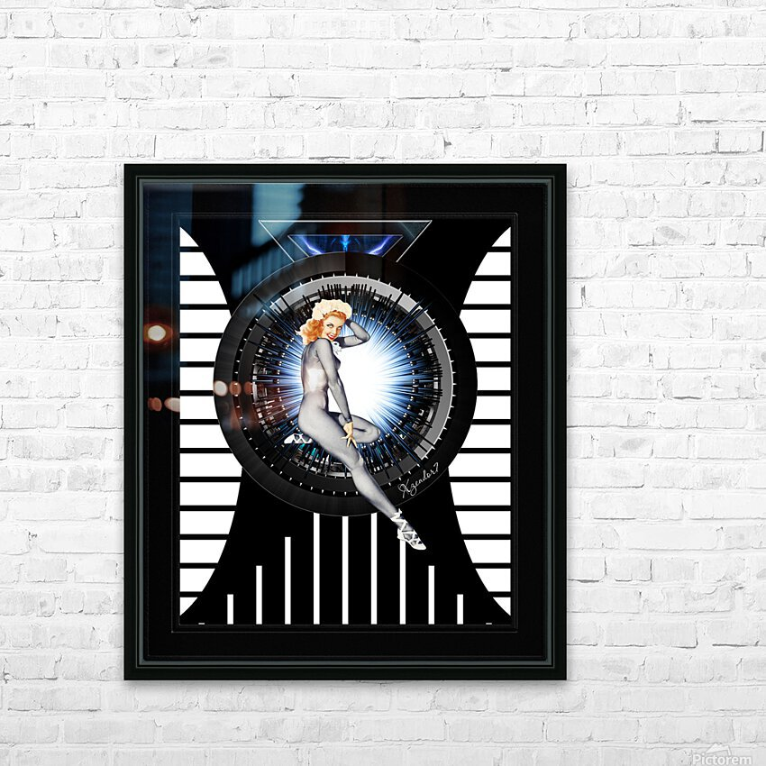 Sitting Pretty With Tech by Xzendor7 Digital Art HD Sublimation Metal print with Decorating Float Frame (BOX)