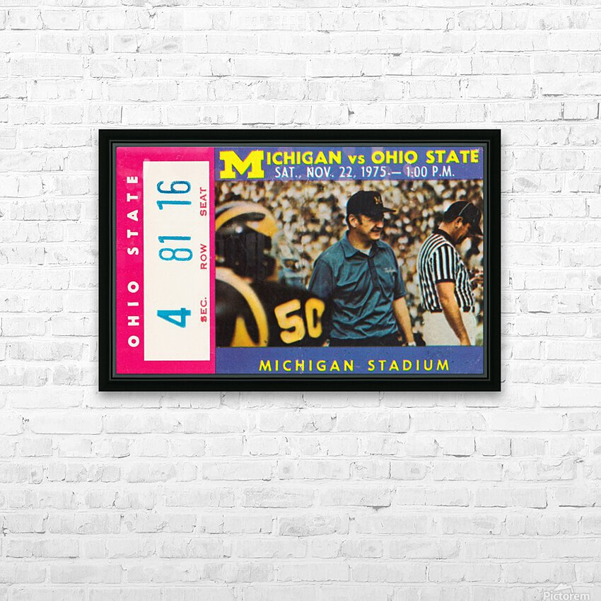 1975 Ohio State vs. Michigan HD Sublimation Metal print with Decorating Float Frame (BOX)