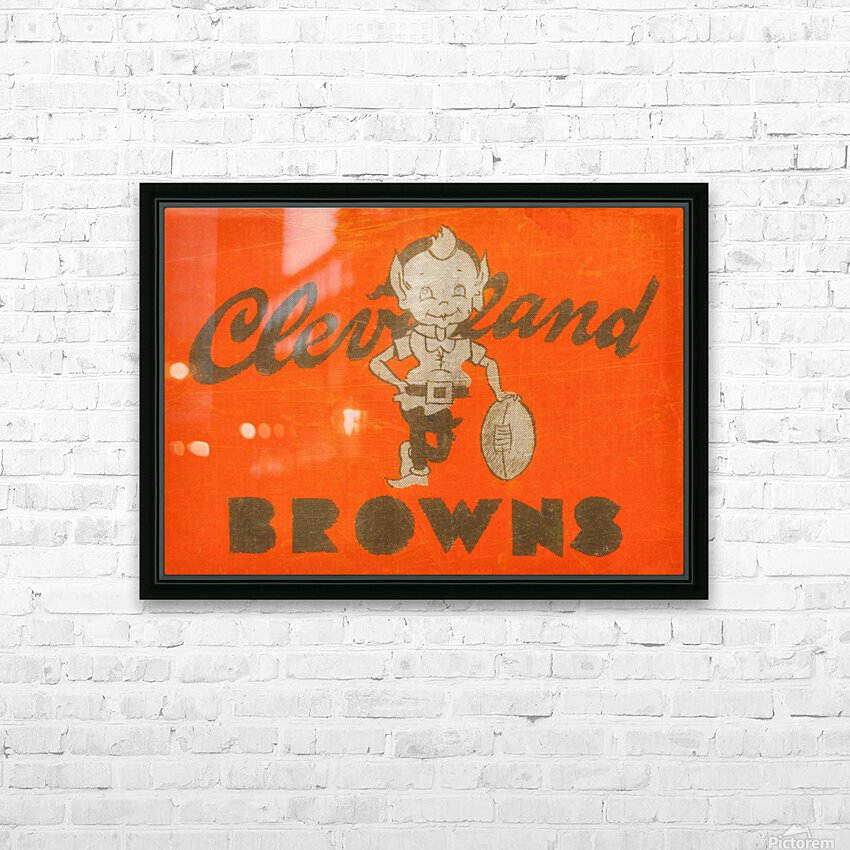 Vintage Cleveland Browns Wall Art HD Sublimation Metal print with Decorating Float Frame (BOX)