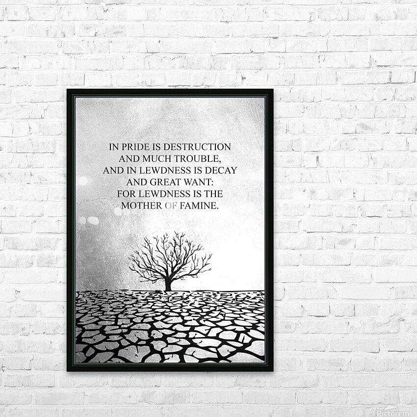 Tobit Parched Land Motivational Wall Art HD Sublimation Metal print with Decorating Float Frame (BOX)