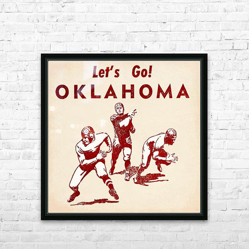 1952 Vintage Oklahoma Football Art HD Sublimation Metal print with Decorating Float Frame (BOX)