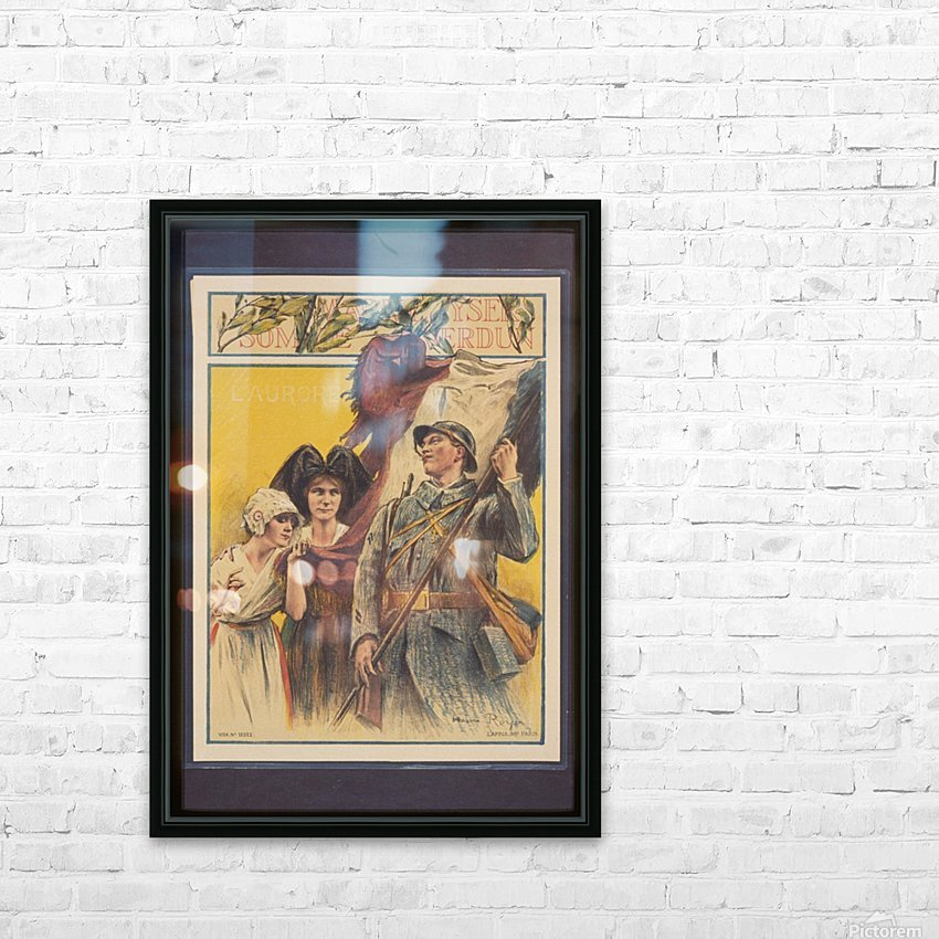 Vintage---French-Liberation HD Sublimation Metal print with Decorating Float Frame (BOX)