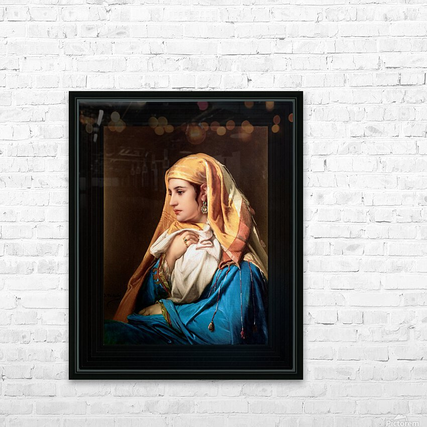 Contemplation by Belgian Painter Jean-Francois Portaels Classical Fine Art Xzendor7 Old Masters Reproductions HD Sublimation Metal print with Decorating Float Frame (BOX)
