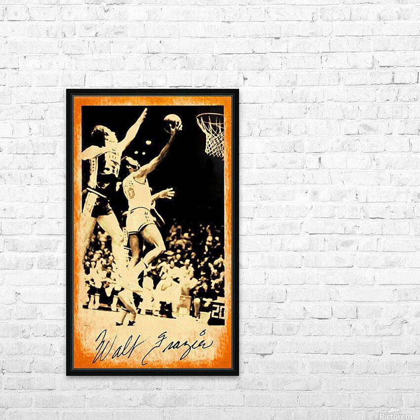 1976 New York Knicks Walt Frazier Art HD Sublimation Metal print with Decorating Float Frame (BOX)