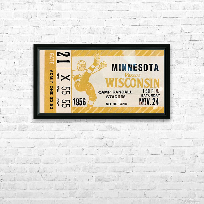 1956 Wisconsin Badgers vs. Minnesota Golden Gophers HD Sublimation Metal print with Decorating Float Frame (BOX)