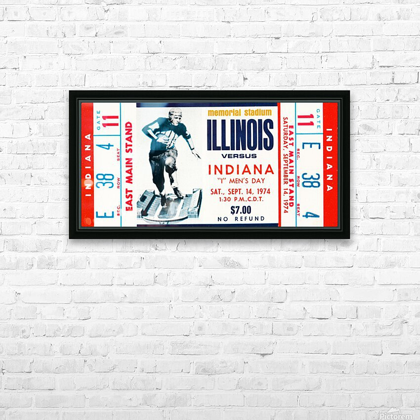1974 Indiana Hoosiers vs. Illinois Fighting Illini HD Sublimation Metal print with Decorating Float Frame (BOX)