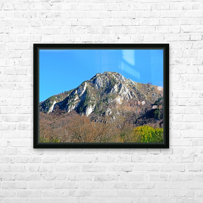 Mountain view in Dragoslavele, Romania HD Sublimation Metal print with Decorating Float Frame (BOX)