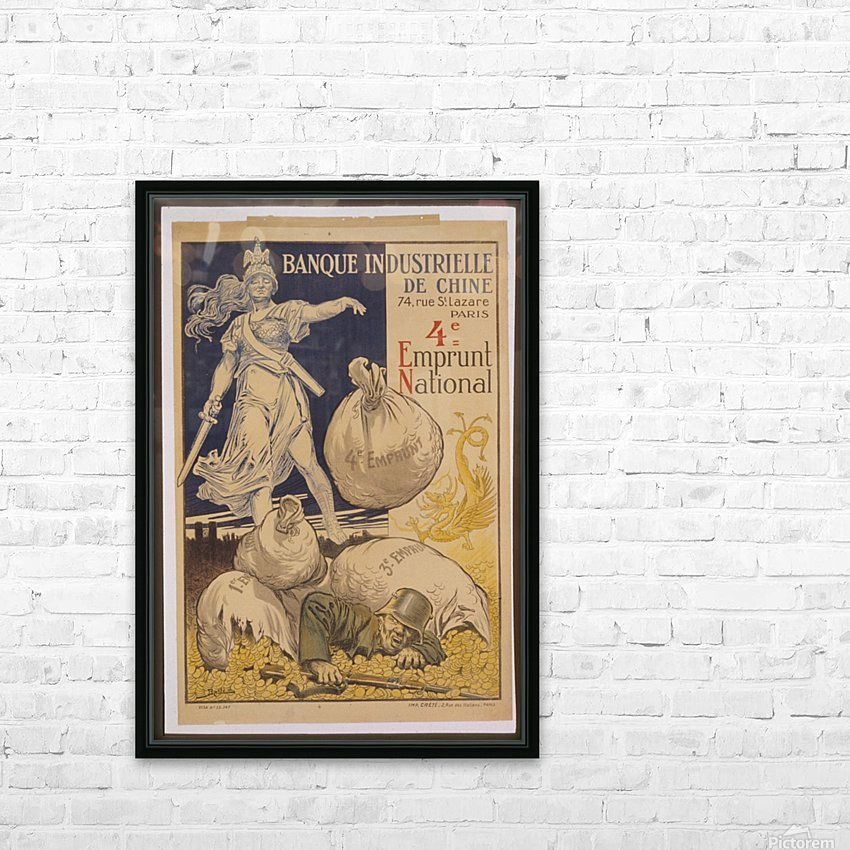 Vintage---German-Defeat HD Sublimation Metal print with Decorating Float Frame (BOX)