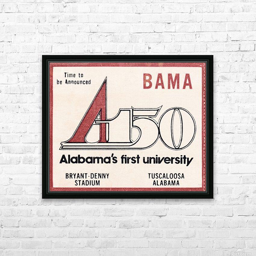 1981 Alabama Football Ticket Stub Art HD Sublimation Metal print with Decorating Float Frame (BOX)