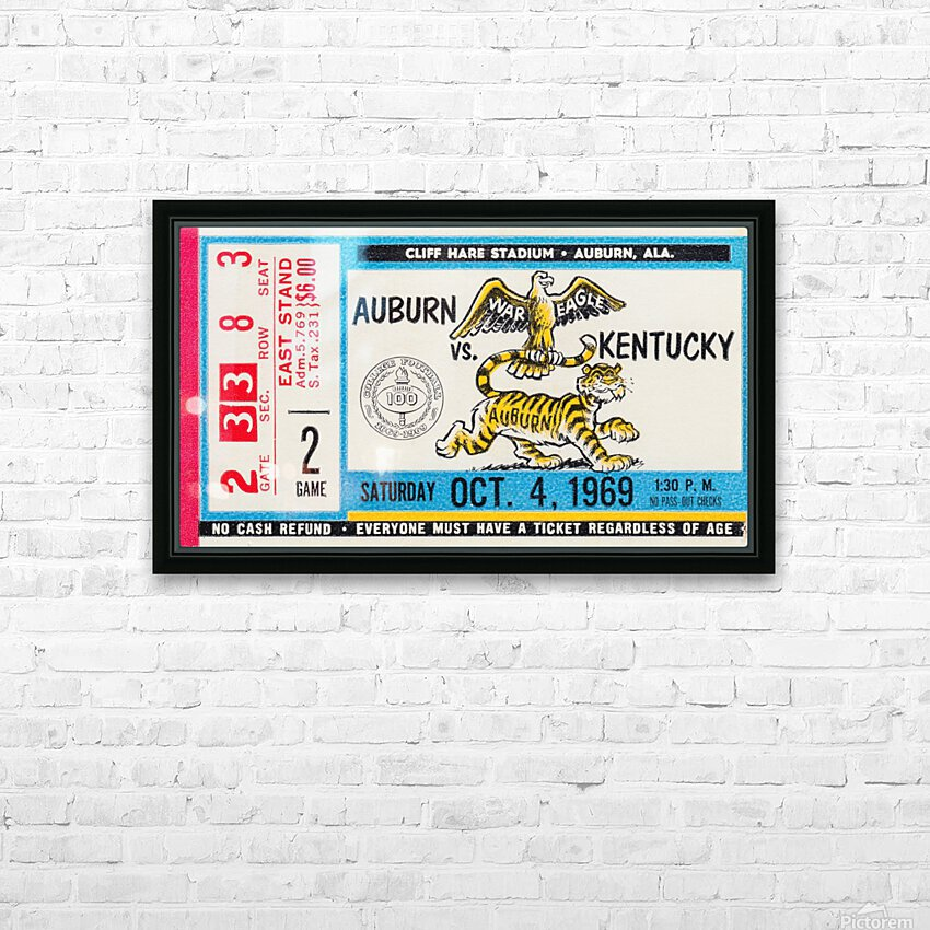 1969 Kentucky Wildcats vs. Auburn Tigers HD Sublimation Metal print with Decorating Float Frame (BOX)