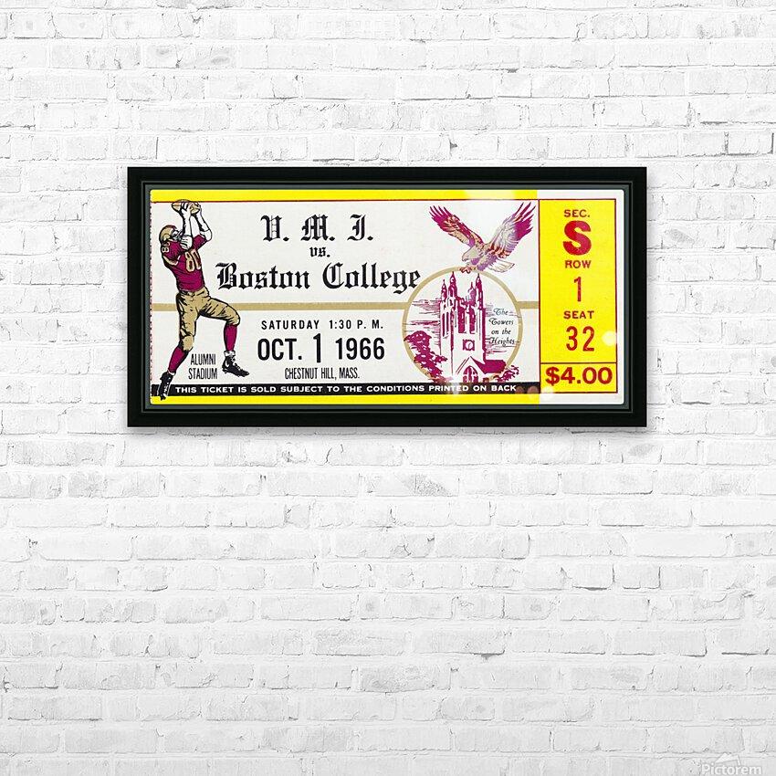 1966 VMI vs. Boston College Eagles Football Ticket Stub Art HD Sublimation Metal print with Decorating Float Frame (BOX)