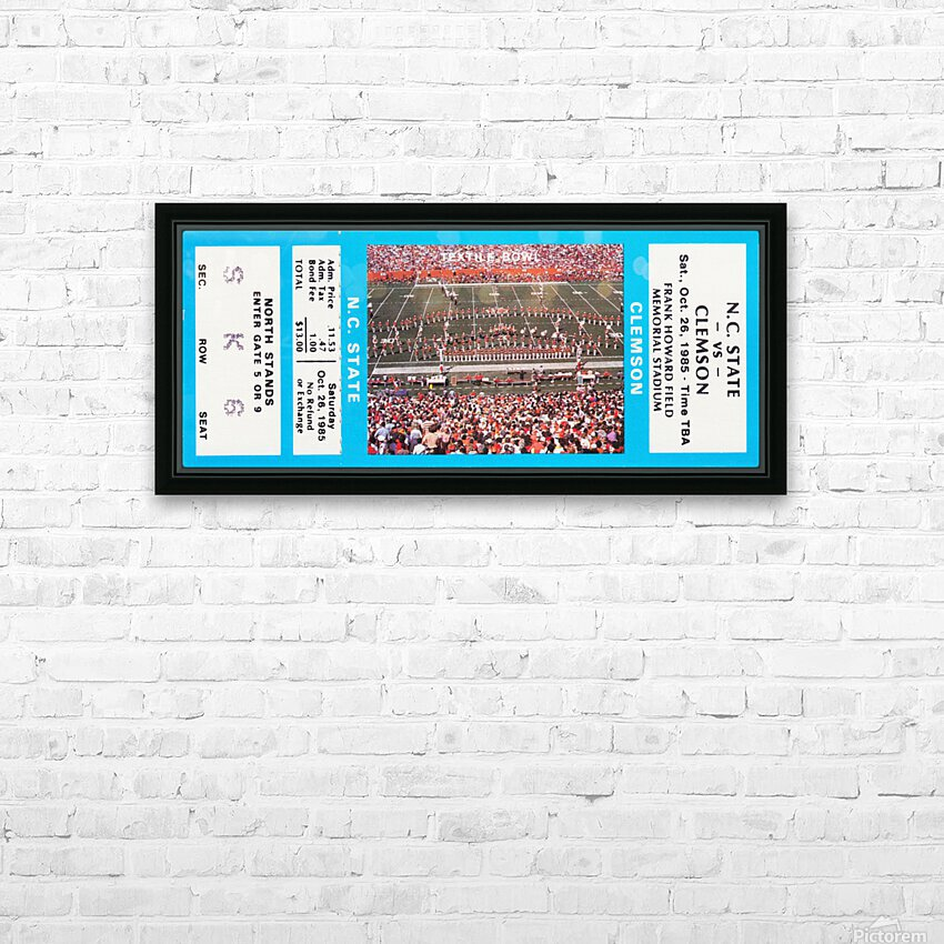 1985 Clemson Tigers vs. NC State Wolfpack HD Sublimation Metal print with Decorating Float Frame (BOX)