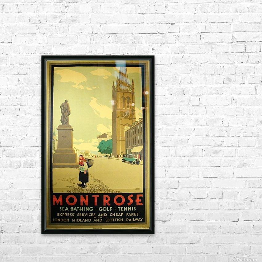 Montrose vintage travel poster HD Sublimation Metal print with Decorating Float Frame (BOX)