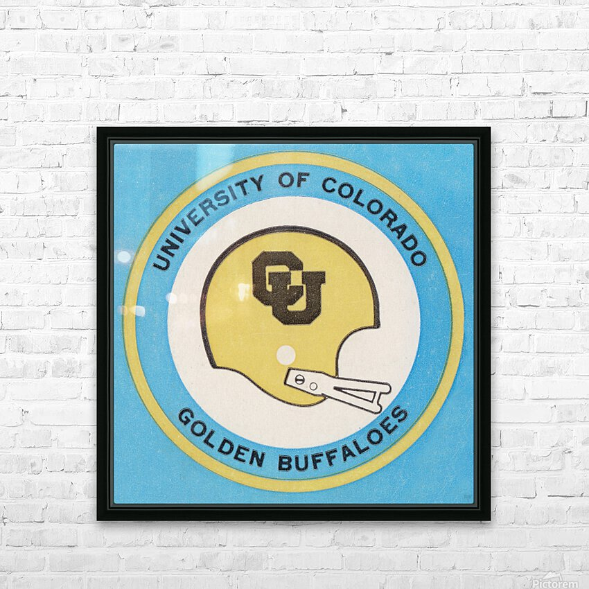 1973 Colorado Buffaloes Football Helmet Art HD Sublimation Metal print with Decorating Float Frame (BOX)