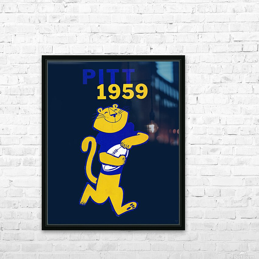 1959 Pitt Panther Vintage Football Art HD Sublimation Metal print with Decorating Float Frame (BOX)