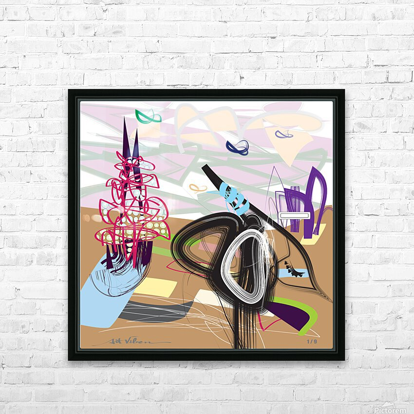 Purple Wispers HD Sublimation Metal print with Decorating Float Frame (BOX)