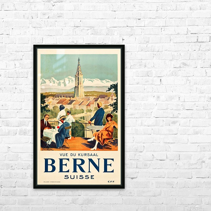 Bern, Switzerland Travel Poster HD Sublimation Metal print with Decorating Float Frame (BOX)