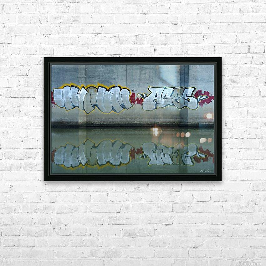 Reflet sous un pont - Reflection under a bridge HD Sublimation Metal print with Decorating Float Frame (BOX)