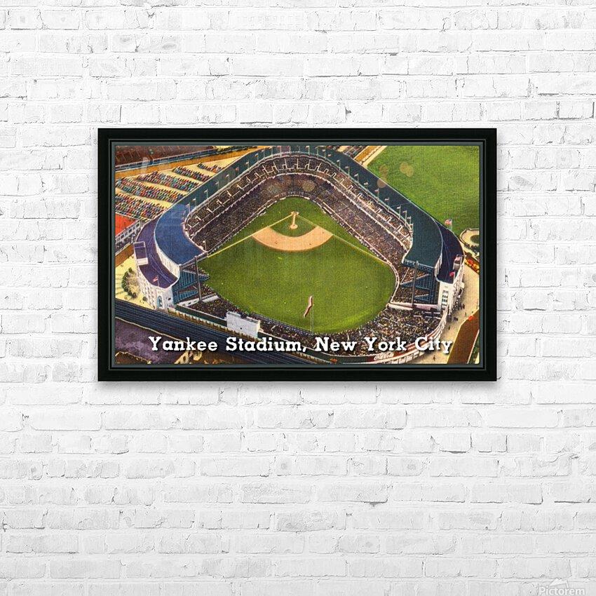 Vintage Yankee Stadium Postcard Art HD Sublimation Metal print with Decorating Float Frame (BOX)