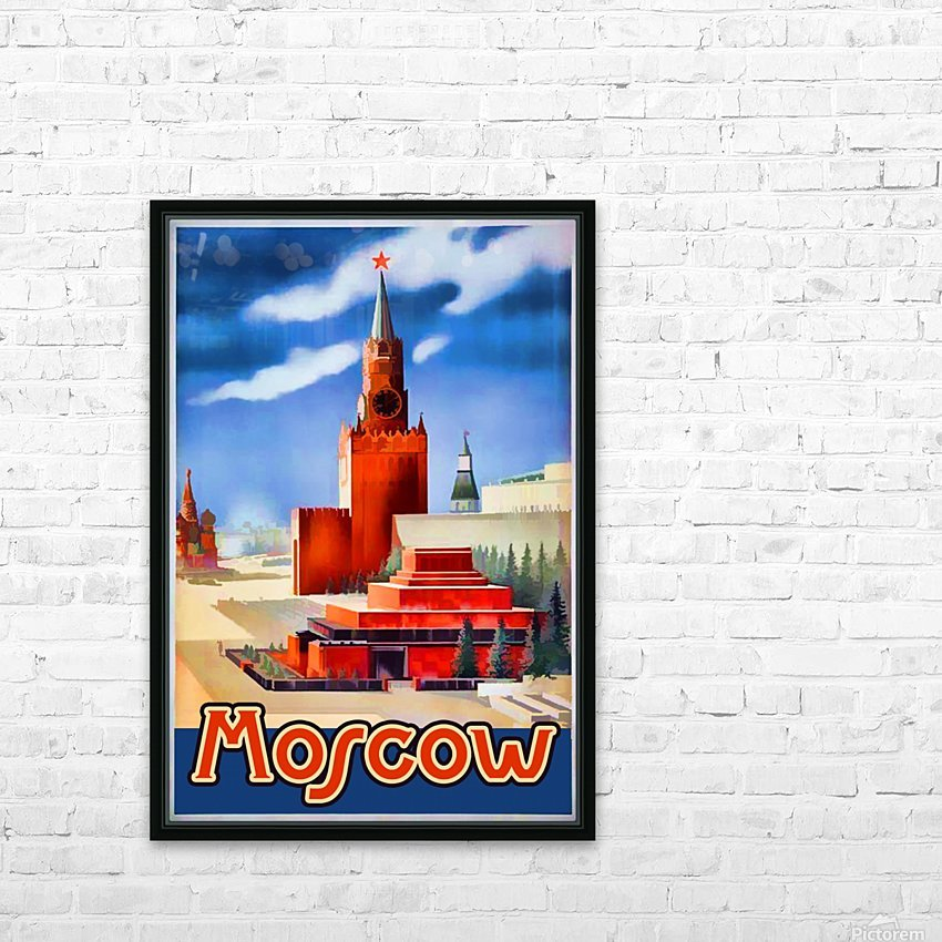 Imperial Airways travel poster for Moscow HD Sublimation Metal print with Decorating Float Frame (BOX)
