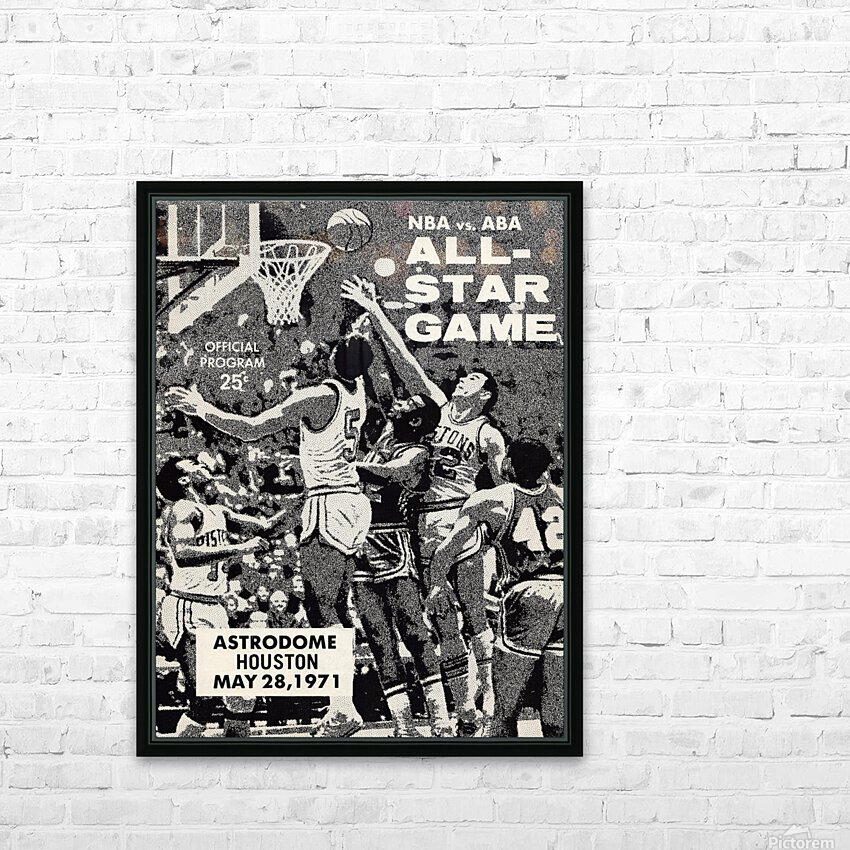 1971 NBA vs. ABA All-Star Game Program Art HD Sublimation Metal print with Decorating Float Frame (BOX)