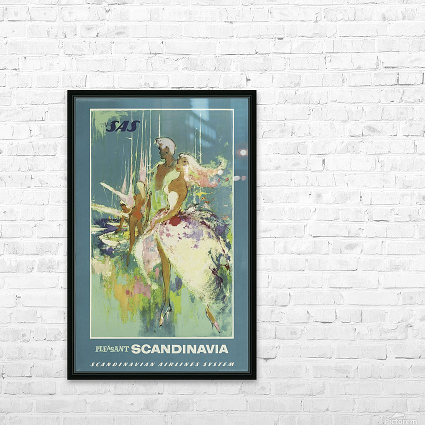 SAS Pleasant Scandinavia Airline Poster HD Sublimation Metal print with Decorating Float Frame (BOX)