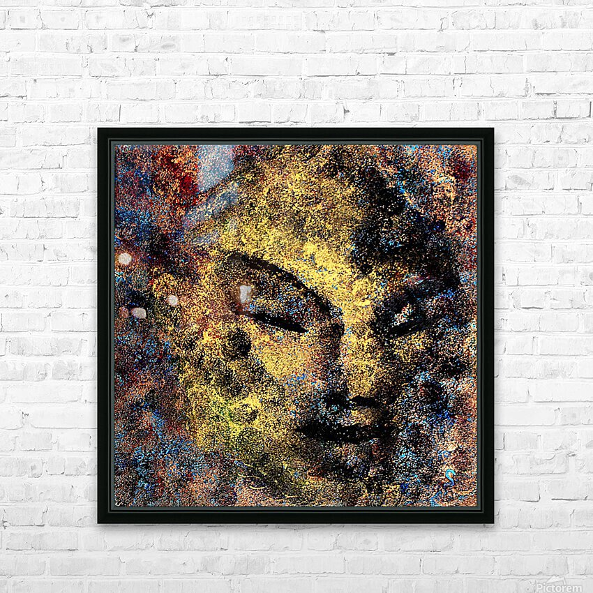 Emerging Buddha HD Sublimation Metal print with Decorating Float Frame (BOX)