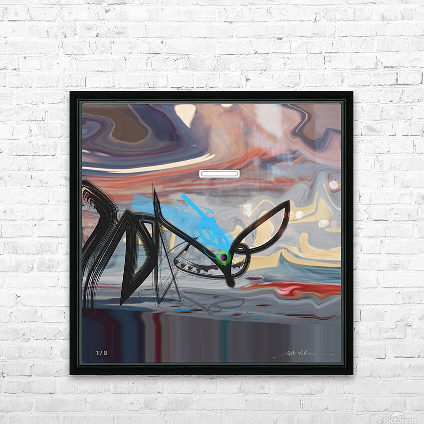 Messenger HD Sublimation Metal print with Decorating Float Frame (BOX)