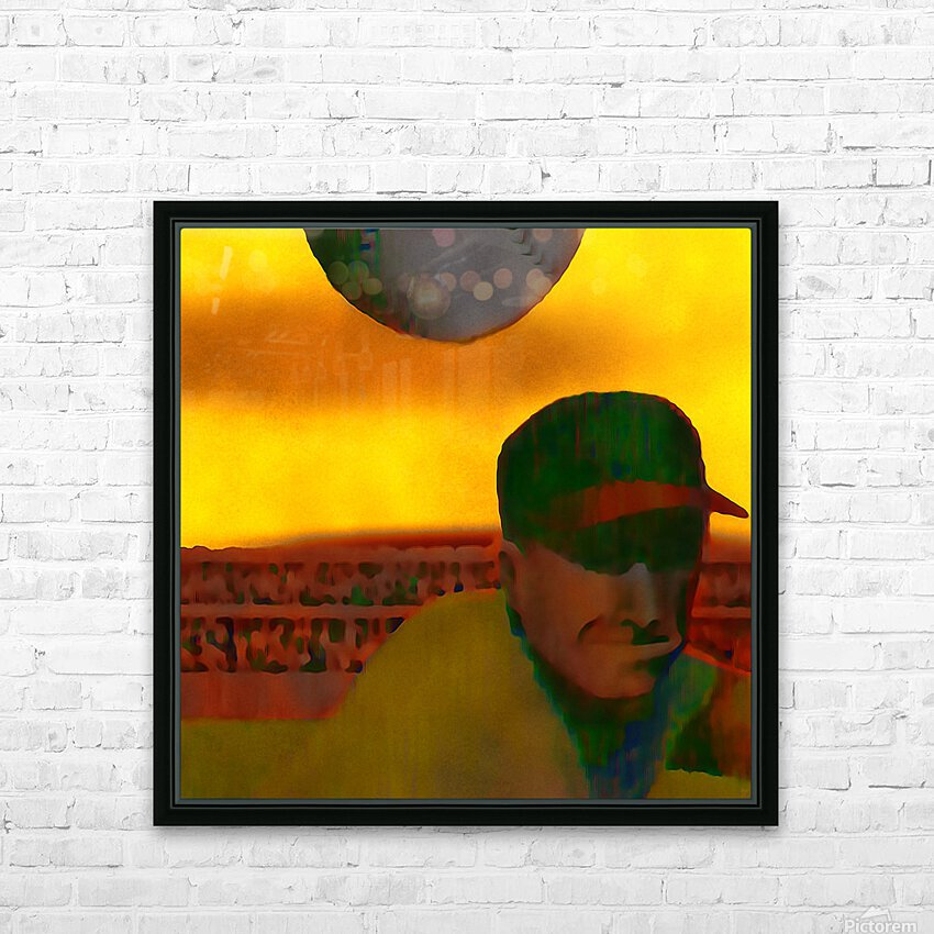 1963 Vintage Baseball Sunset Pitch Art HD Sublimation Metal print with Decorating Float Frame (BOX)
