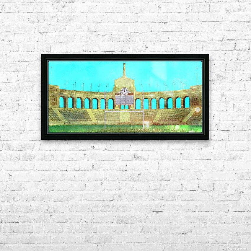Vintage LA Coliseum Art  HD Sublimation Metal print with Decorating Float Frame (BOX)
