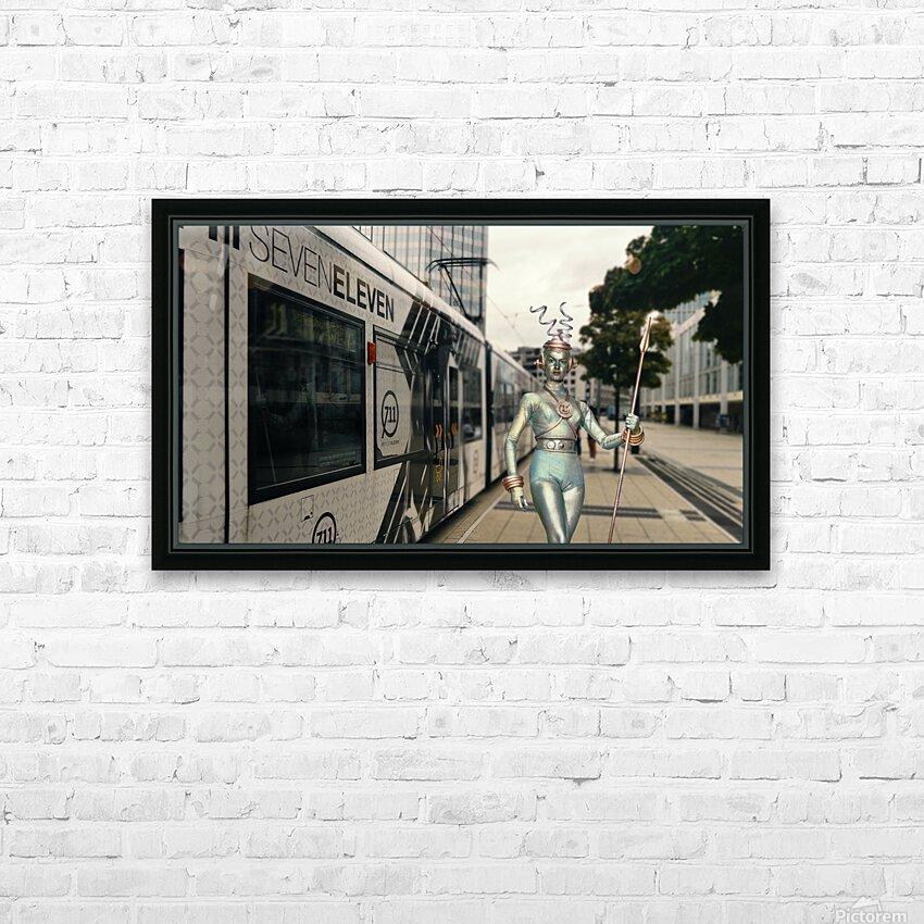 Visitor from Outer Space HD Sublimation Metal print with Decorating Float Frame (BOX)