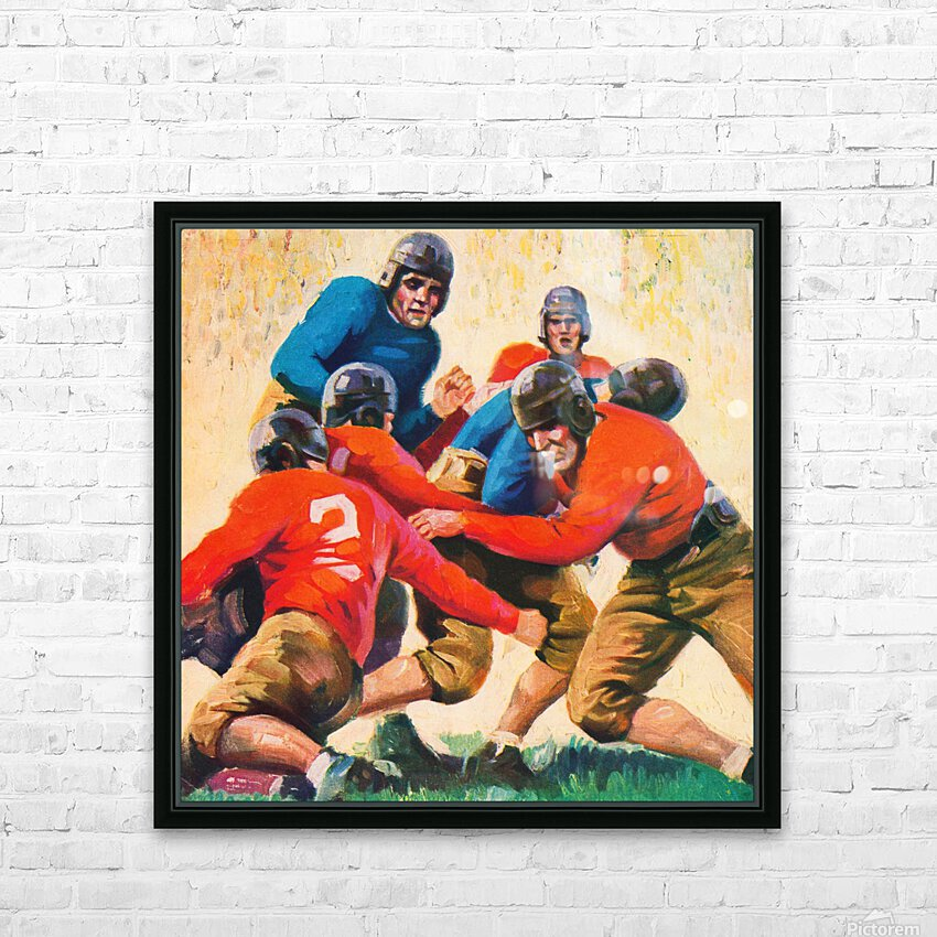 1937 Vintage Football Art HD Sublimation Metal print with Decorating Float Frame (BOX)