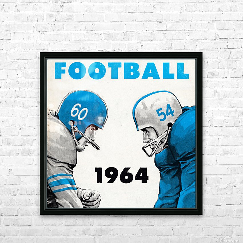 1964 Linemen Football Art HD Sublimation Metal print with Decorating Float Frame (BOX)