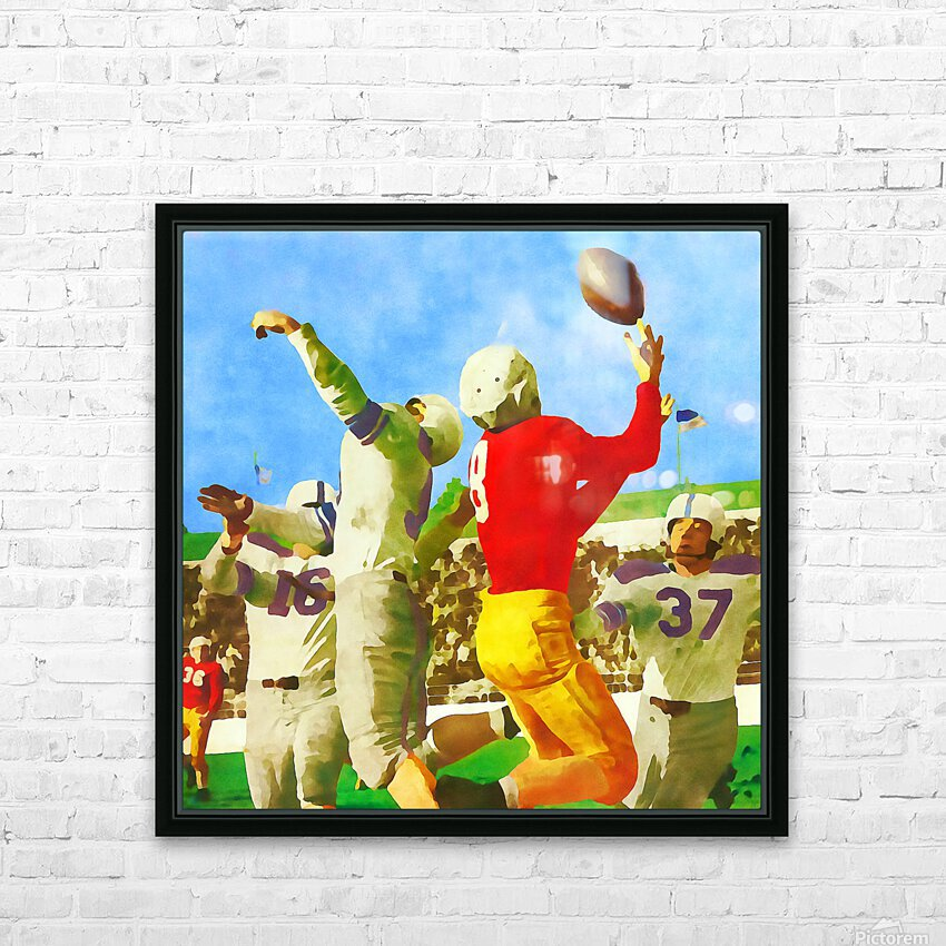 1947 Vintage Football Art Gift Idea HD Sublimation Metal print with Decorating Float Frame (BOX)