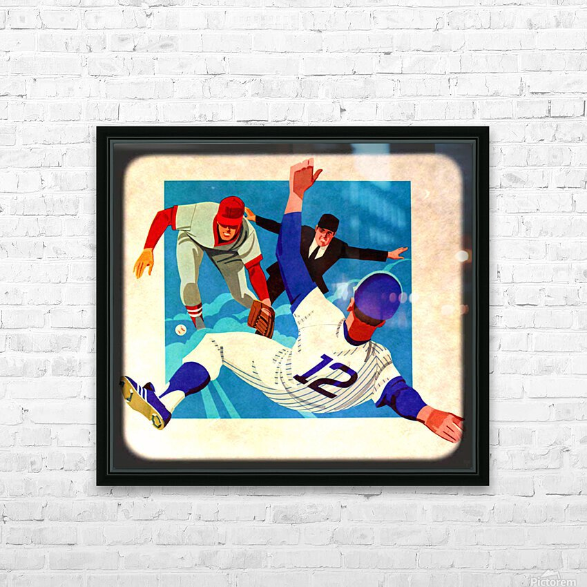 1981 Retro Viewfinder Slide Baseball Art HD Sublimation Metal print with Decorating Float Frame (BOX)