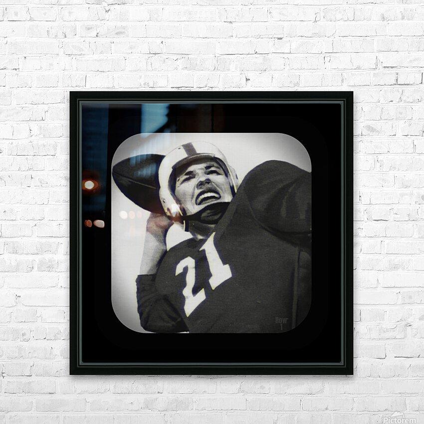 1954 Vintage Television Set Football Quarterback Art HD Sublimation Metal print with Decorating Float Frame (BOX)