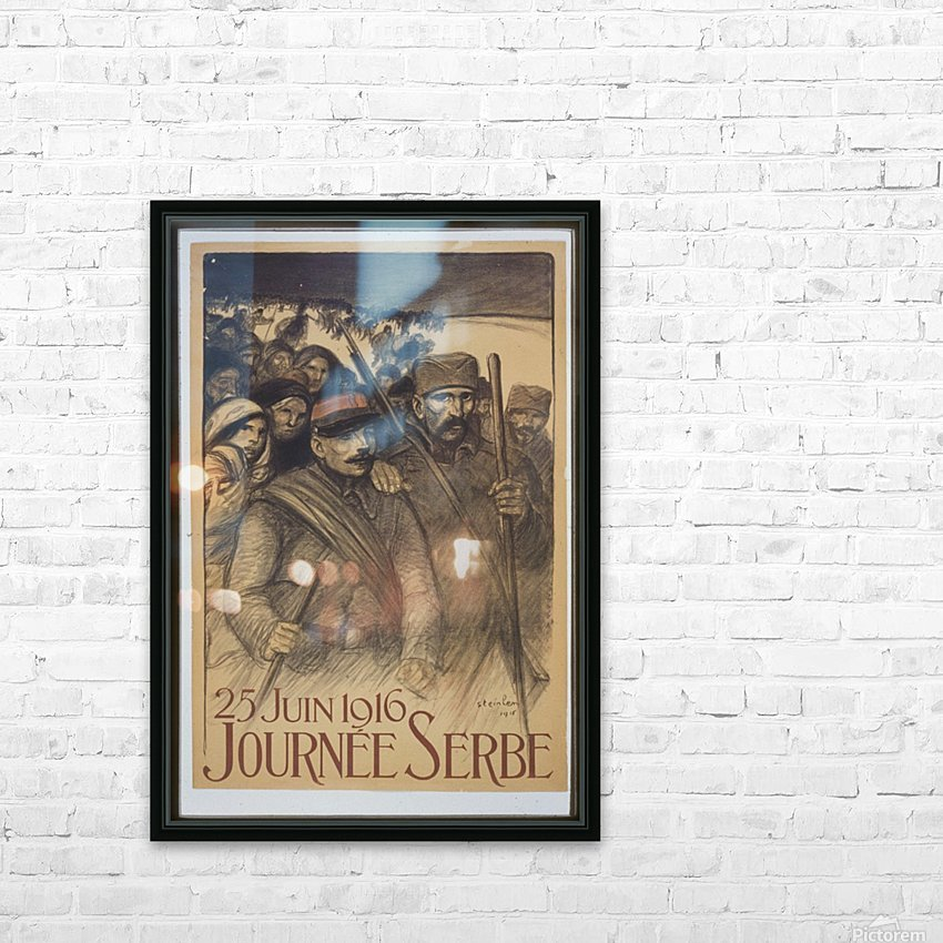 Vintage---Journey-to-Serbia HD Sublimation Metal print with Decorating Float Frame (BOX)