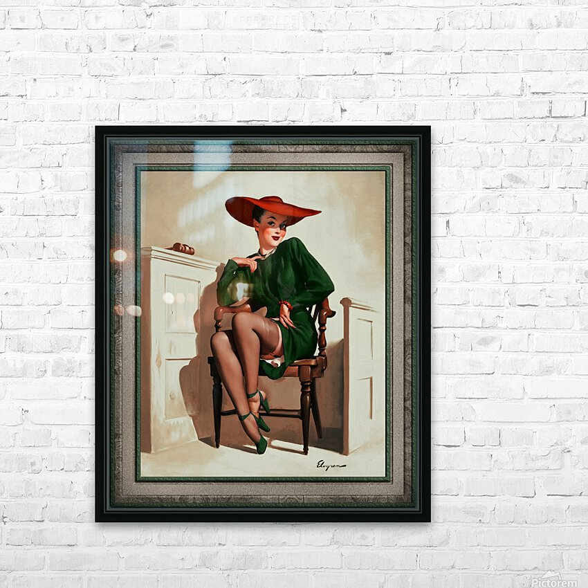 The Verdict Was by Gil Elvgren Vintage Pinup Illustration Xzendor7 Old Masters Reproductions HD Sublimation Metal print with Decorating Float Frame (BOX)