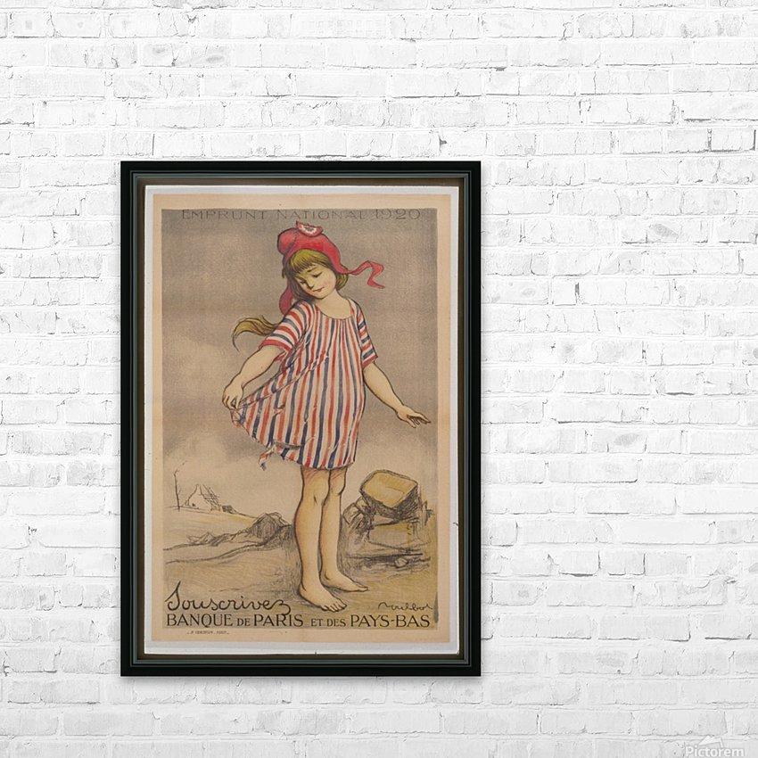 Vintage---Little-Girl HD Sublimation Metal print with Decorating Float Frame (BOX)