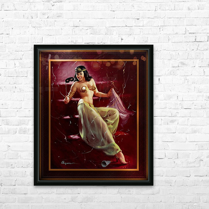 Did You Recognize Me by Gil Elvgren Vintage Pinup Illustration Xzendor7 Old Masters Reproductions HD Sublimation Metal print with Decorating Float Frame (BOX)