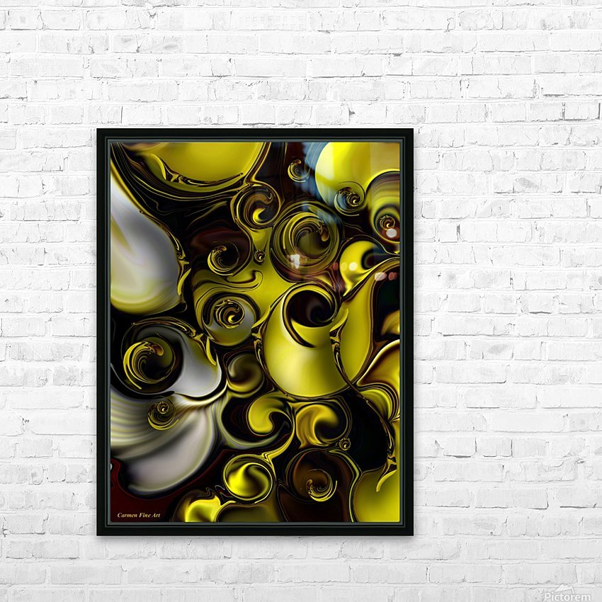 Architectonic Morphism HD Sublimation Metal print with Decorating Float Frame (BOX)