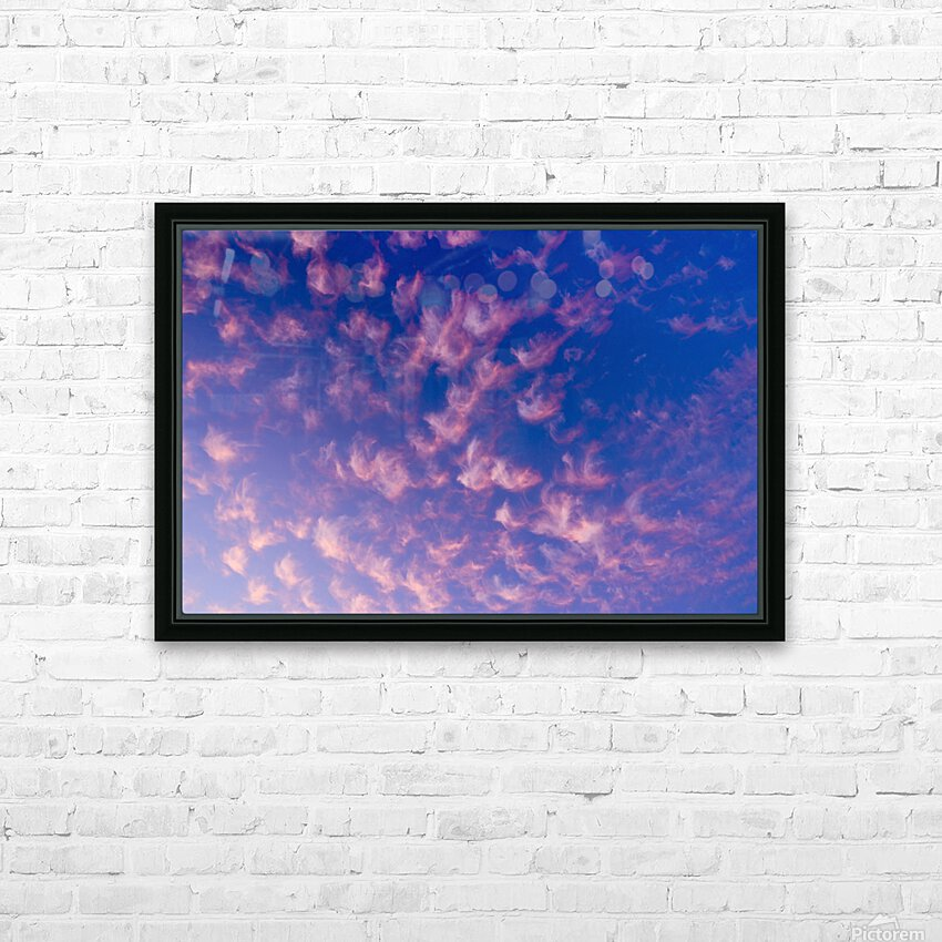 Pink and White Cotton Candy Skies over the Pacific Northwest   Abstract Expressionist Robert Stanek Original HD Sublimation Metal print with Decorating Float Frame (BOX)