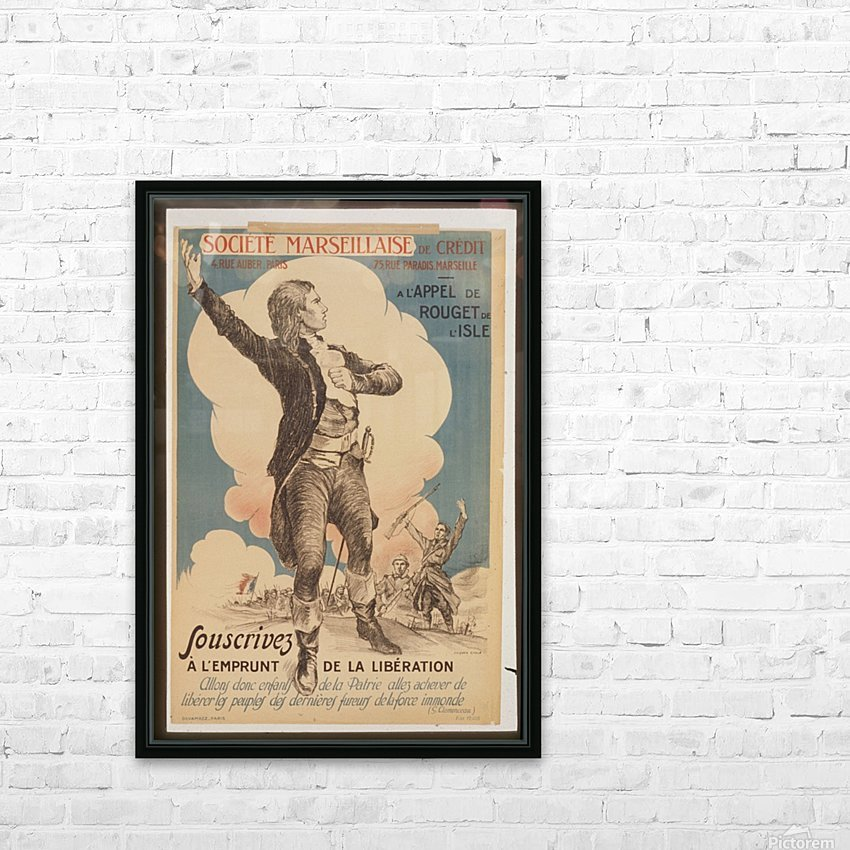 Vintage---Marseillaise-Society HD Sublimation Metal print with Decorating Float Frame (BOX)