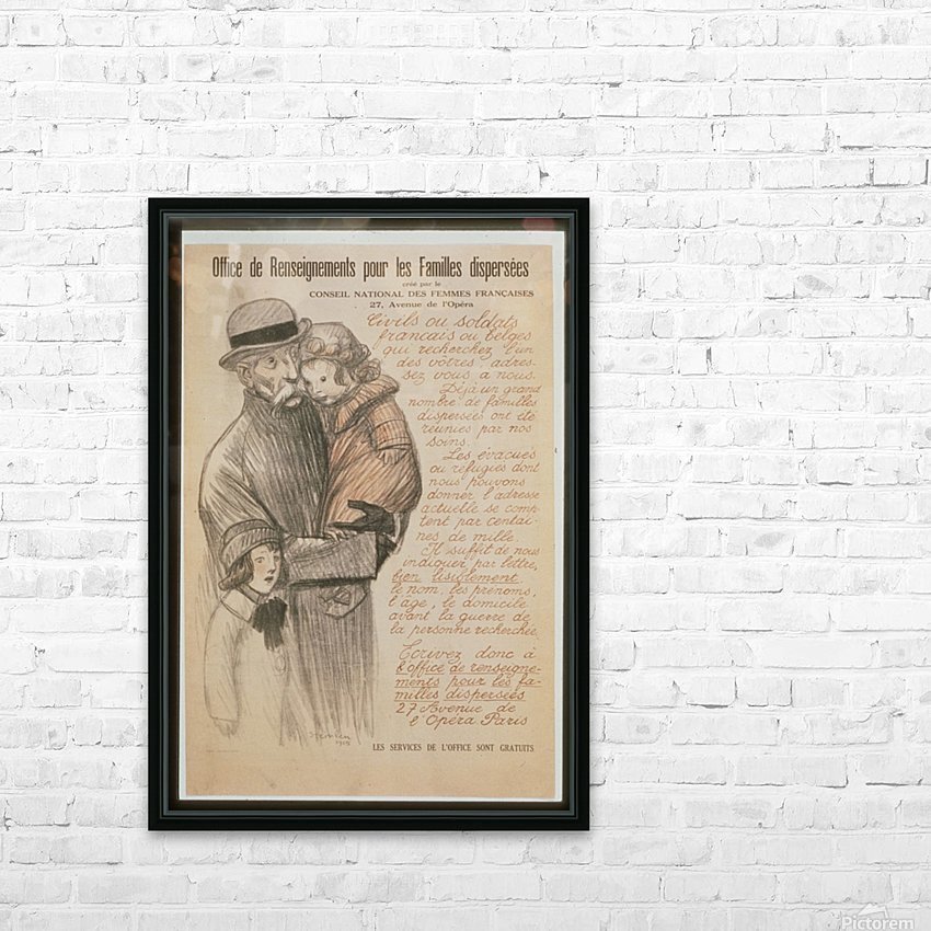 Vintage---Old-man-with-children HD Sublimation Metal print with Decorating Float Frame (BOX)